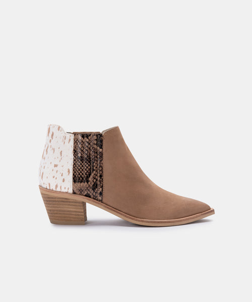 SHANA WIDE BOOTIES IN TAUPE MULTI NUBUCK -   Dolce Vita