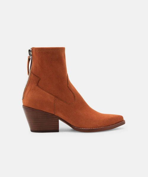 SHANTA BOOTIES IN BROWN -   Dolce Vita