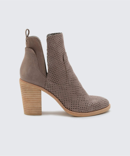 SHAY PERF BOOTIES IN SMOKE PERF -   Dolce Vita