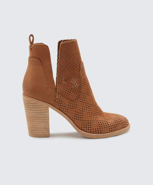SHAY PERF BOOTIES IN TAN PERF -   Dolce Vita