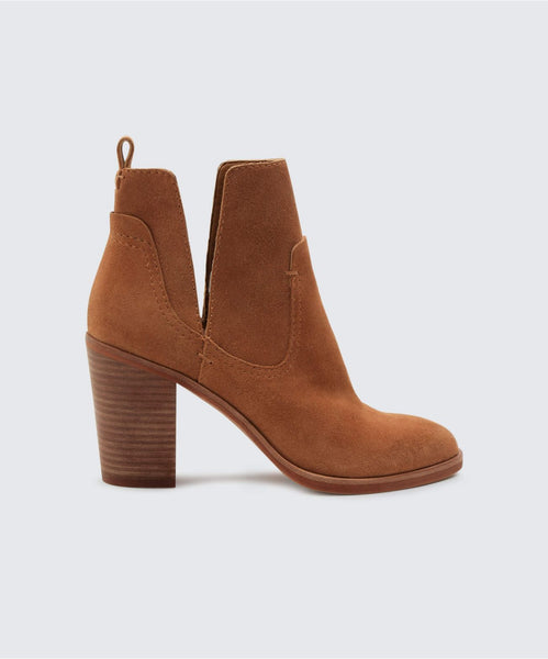 SHAY BOOTIES IN DK SADDLE -   Dolce Vita