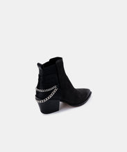 SHELAH BOOTIES IN BLACK NUBUCK -   Dolce Vita