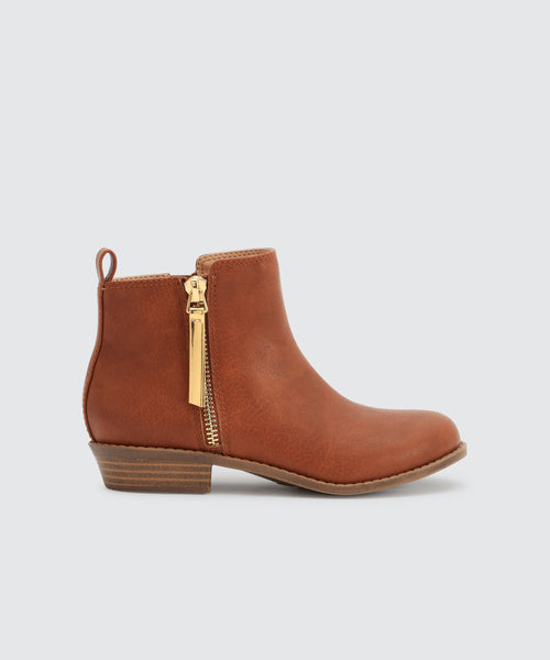 SHELL BOOTIES IN TAN -   Dolce Vita