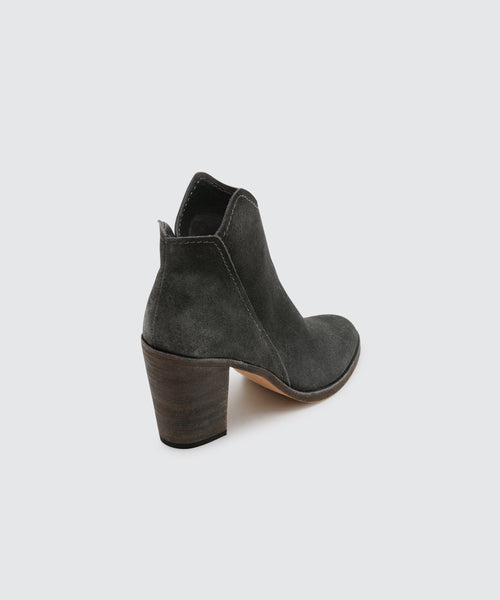 SHEP WIDE BOOTIES IN ANTHRACITE -   Dolce Vita