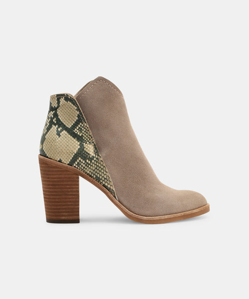 SHEP BOOTIES IN TAUPE SNAKE -   Dolce Vita