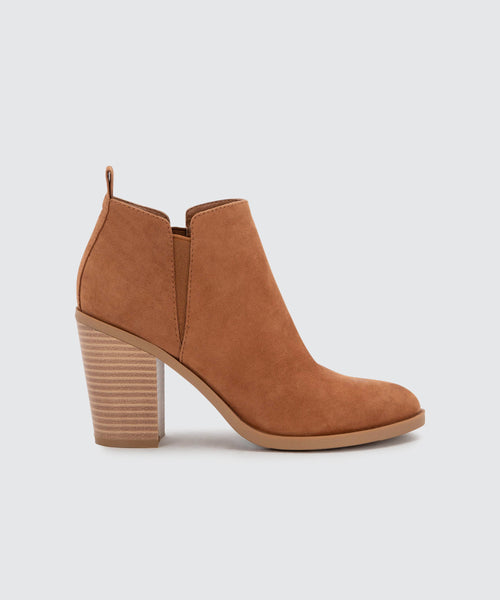 SIANA BOOTIES IN BROWN -   Dolce Vita