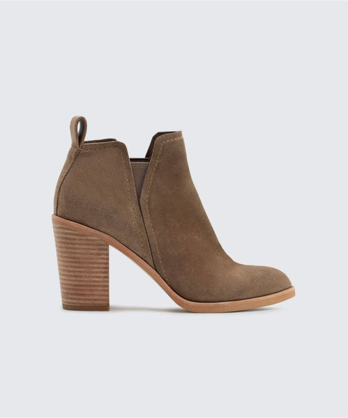 SIMONE BOOTIES IN DK TAUPE -   Dolce Vita