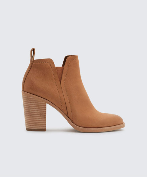 SIMONE BOOTIES IN TAN -   Dolce Vita