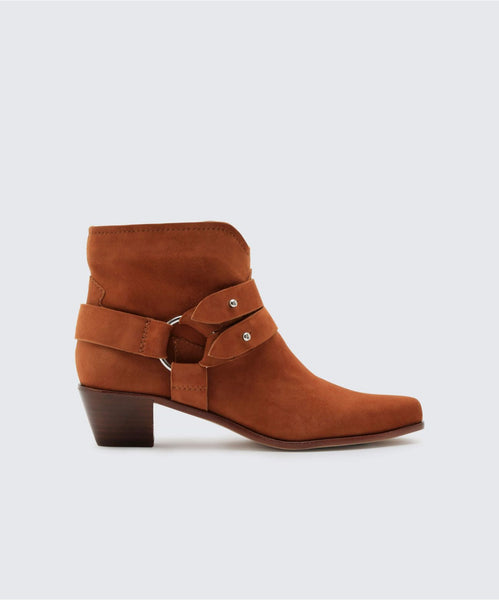 SOL BOOTIES IN BROWN -   Dolce Vita
