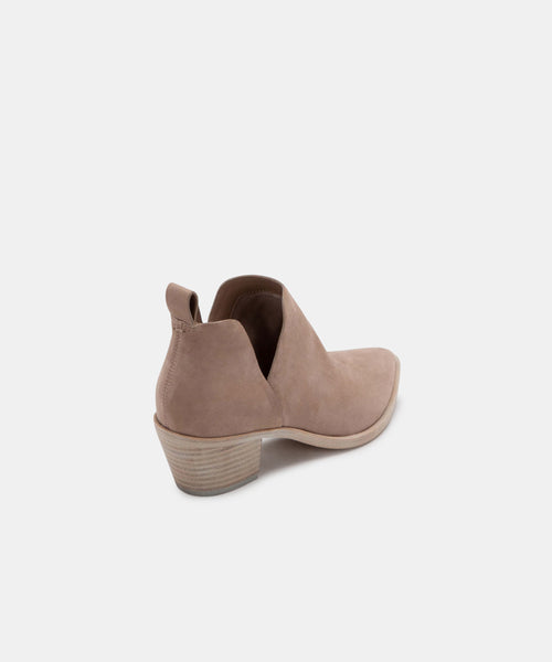 SONNI BOOTIES IN ALMOND SUEDE -   Dolce Vita