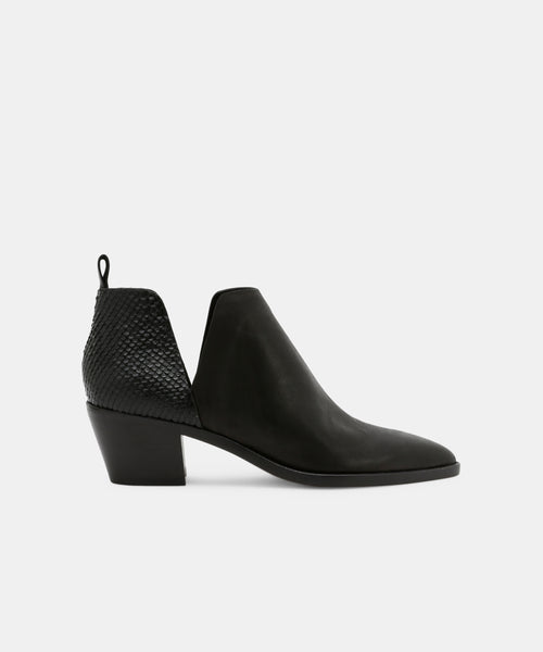 SONNI WIDE BOOTIES IN BLACK -   Dolce Vita