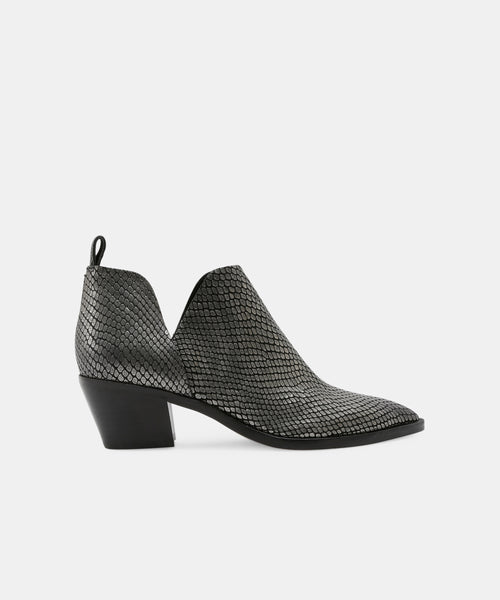 SONNI BOOTIES IN GUNMETAL -   Dolce Vita