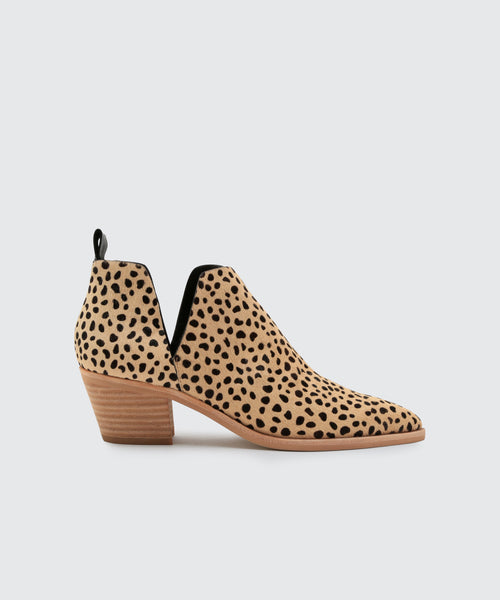 SONNI WIDE BOOTIES IN LEOPARD -   Dolce Vita