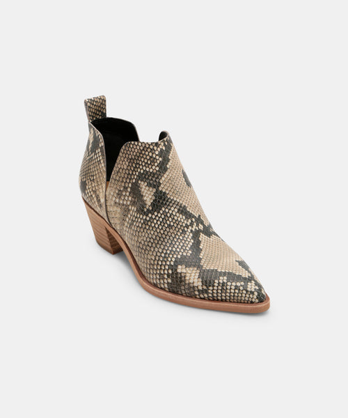 SONNI WIDE BOOTIES IN SNAKE PRINT -   Dolce Vita