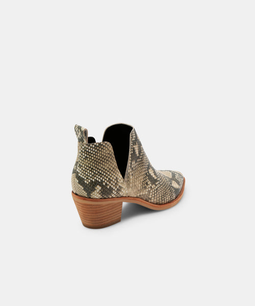 SONNI BOOTIES IN SNAKE -   Dolce Vita