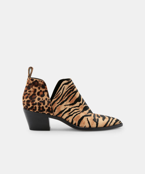 SONNI BOOTIES IN TIGER -   Dolce Vita