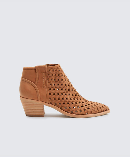 SPENCE BOOTIES IN DK SADDLE -   Dolce Vita