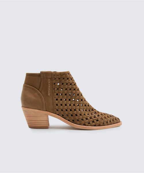 SPENCE BOOTIES OLIVE -   Dolce Vita