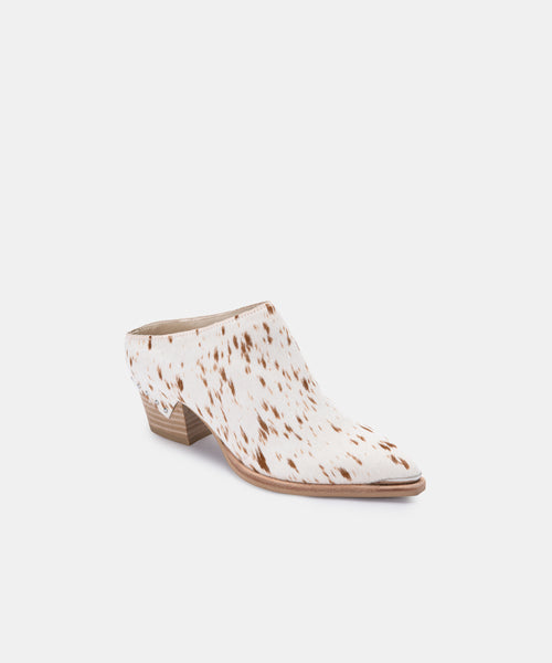 SUKIE MULES IN FAWN CALF HAIR -   Dolce Vita