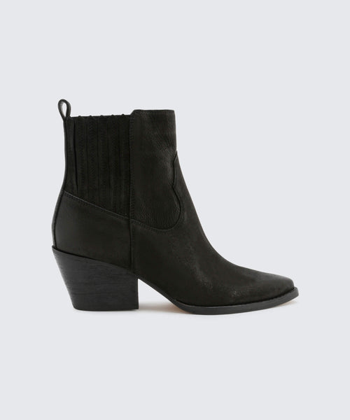 SUVI BOOTIES IN BLACK -   Dolce Vita