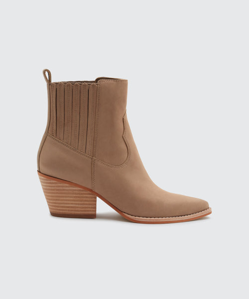 SUVI BOOTIES IN LIGHT TAUPE -   Dolce Vita