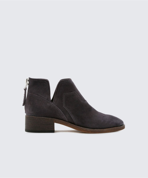 TITUS BOOTIES IN ANTHRACITE -   Dolce Vita