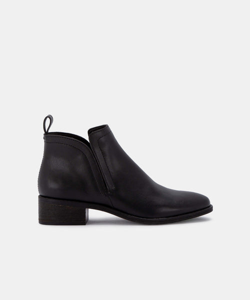 TIVON BOOTIES IN ONYX -   Dolce Vita