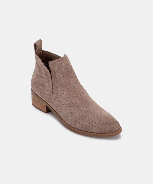 TIVON PERF BOOTIES IN LT TAUPE -   Dolce Vita