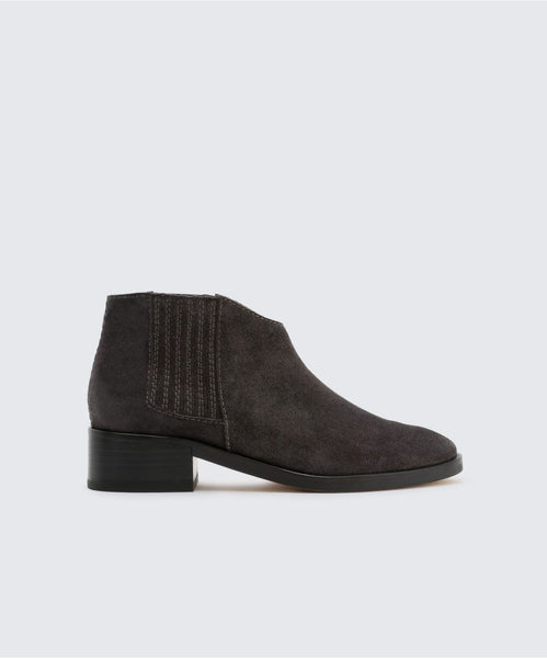 TOWNE BOOTIES IN ANTHRACITE -   Dolce Vita