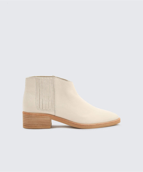 TOWNE BOOTIES IN IVORY -   Dolce Vita