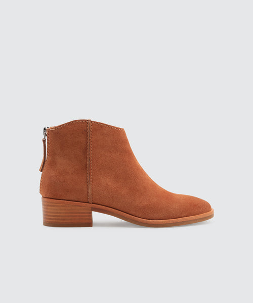 TRENA BOOTIES IN BROWN -   Dolce Vita
