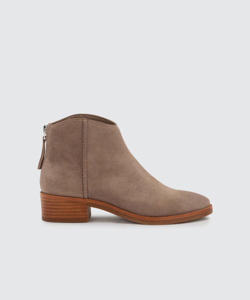 TRENA BOOTIES IN DK TAUPE -   Dolce Vita
