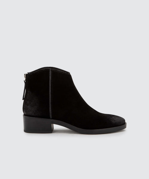 TRENA BOOTIES IN ONYX -   Dolce Vita