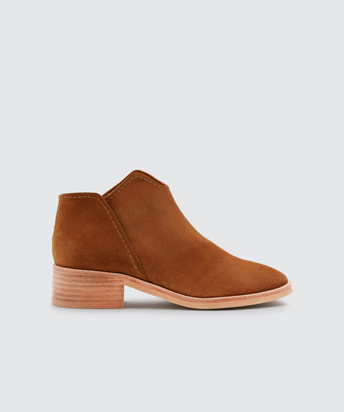 TRIST BOOTIES IN BROWN -   Dolce Vita