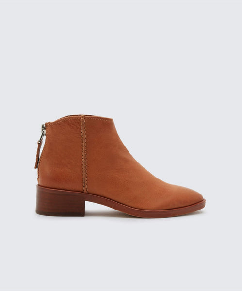 TUCKER BOOTIES IN BROWN -   Dolce Vita