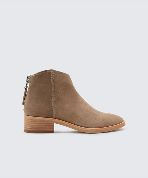 TUCKER BOOTIES IN DK TAUPE -   Dolce Vita