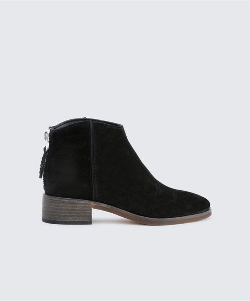 TUCKER BOOTIES IN ONYX -   Dolce Vita