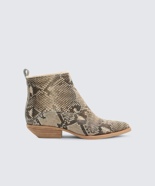 UNITY BOOTIES IN SNAKE -   Dolce Vita