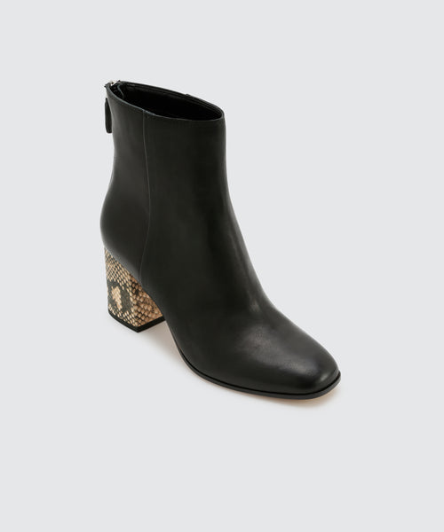 VIDAL BOOTIES IN BLACK -   Dolce Vita