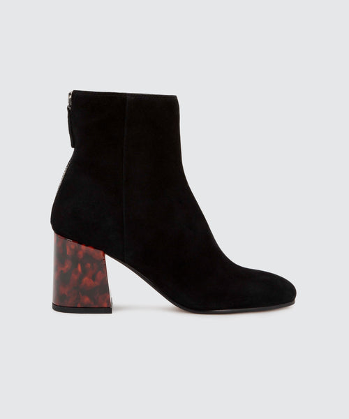VIDAL BOOTIES IN ONYX -   Dolce Vita