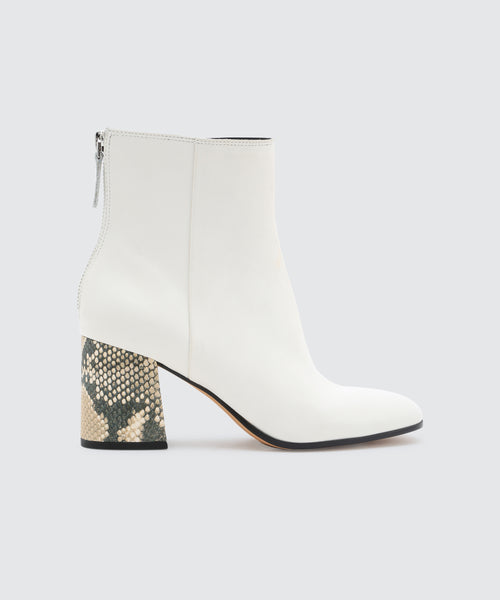 VIDAL BOOTIES IN WHITE -   Dolce Vita