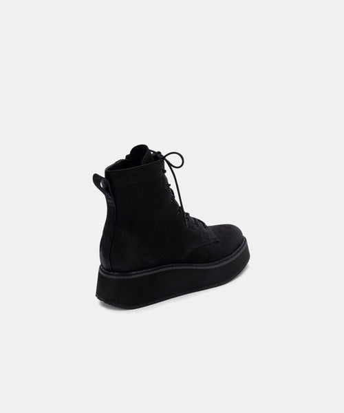 ADYSON BOOTIES IN BLACK NUBUCK -   Dolce Vita