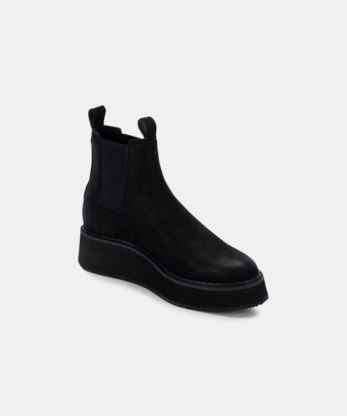 ARLETE BOOTIES IN BLACK NUBUCK -   Dolce Vita