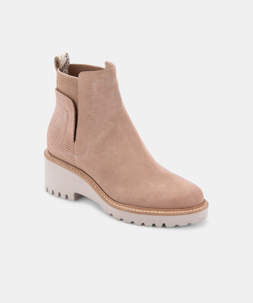 HUEY BOOTIES IN BLUSH SUEDE -   Dolce Vita