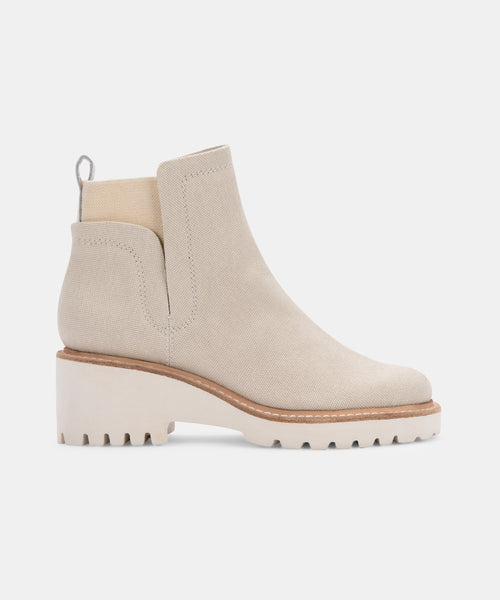 HUEY BOOTIES IN SANDSTONE CANVAS -   Dolce Vita