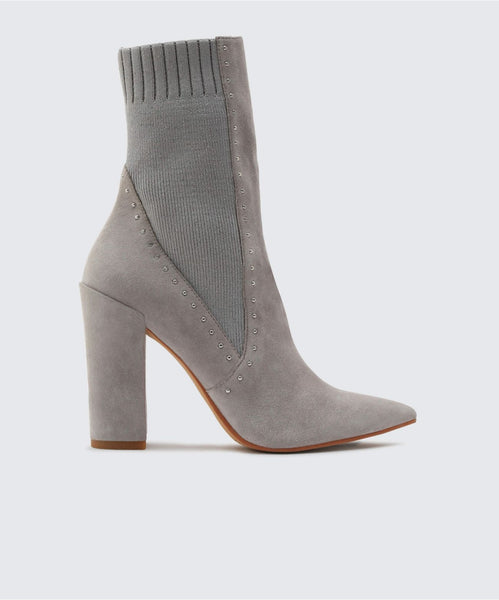 ECHO BOOTIES IN SILVER -   Dolce Vita