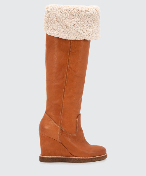 PERLY BOOTS IN COGNAC -   Dolce Vita