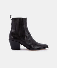 SERNA BOOTIES IN BLACK MULTI CROCO PRINT LEATHER -   Dolce Vita