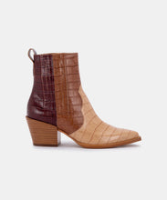 SERNA BOOTIES IN BROWN MULTI CROCO PRINT LEATHER -   Dolce Vita