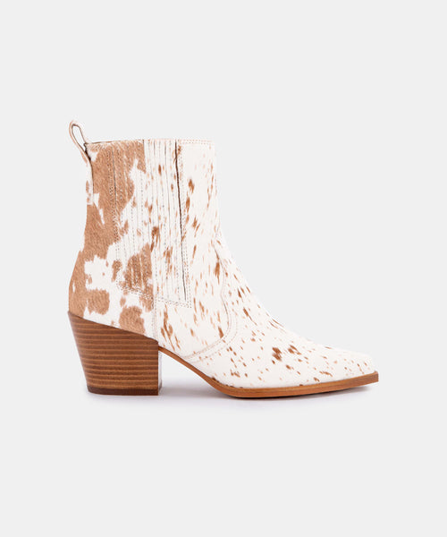 SERNA BOOTIES IN FAWN CALF HAIR -   Dolce Vita